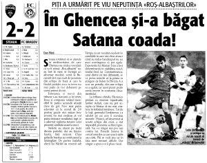Steaua Bucureşti - FC Braşov 2-2, 5 decembrie 1999
