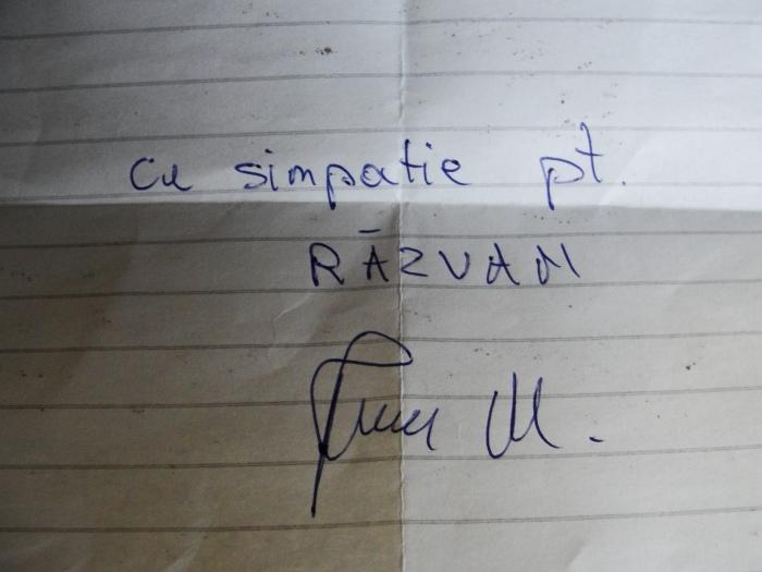 Autograf de la Marian Ivan