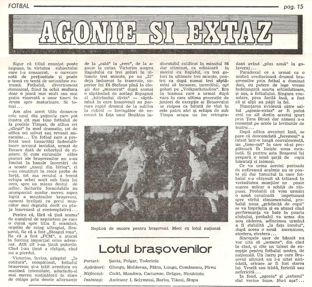 Articol, Sibiu 1989.