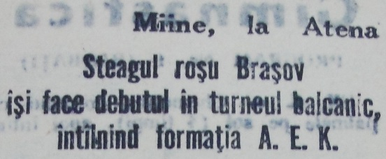 12. Steagul se pregateste de meciul cu AEK, 13 feb. 1961X