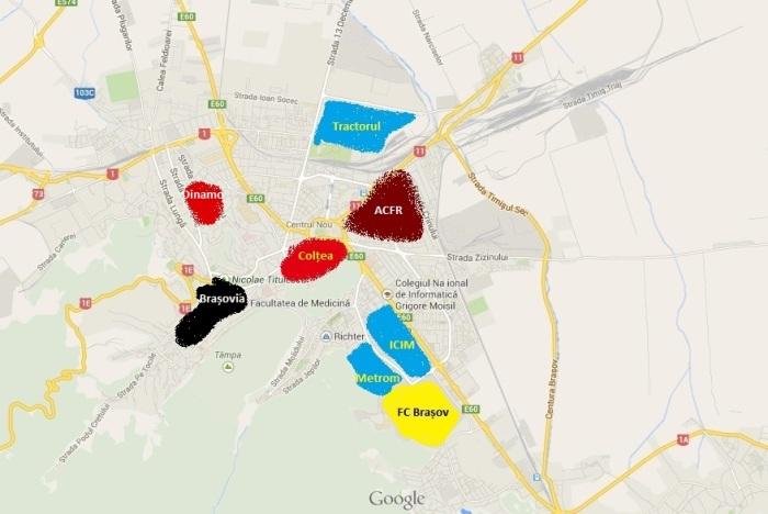 harta Brasov