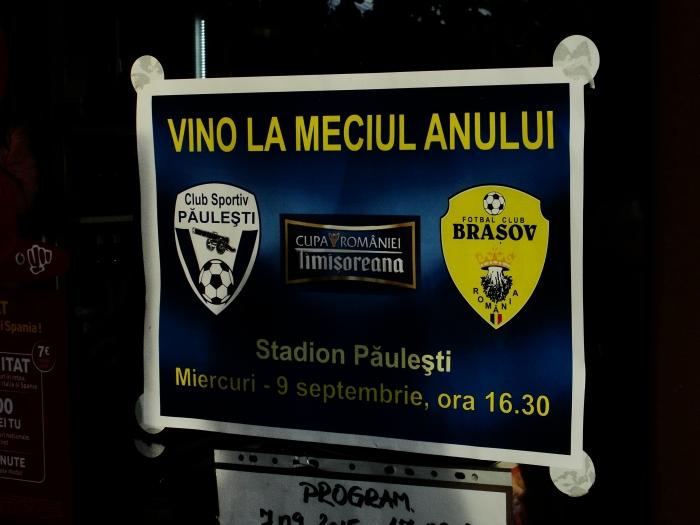 CS Paulesti - FC Brasov Cupa Romaniei 2015