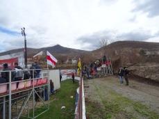 """Sector suporteri oaspeţi pe stadionul """"Otto Greffner"""""""