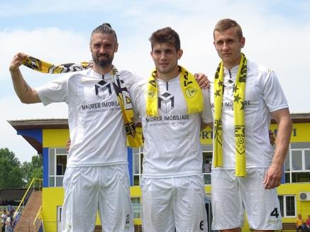 """Ioan """"Piciu"""" Şerban, Paul Iacob şi Daniel Ciobanu."""