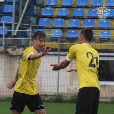 Cocan sărbătorind al doilea gol al său cu Pătraşcu. / foto de Cătălin Ignat