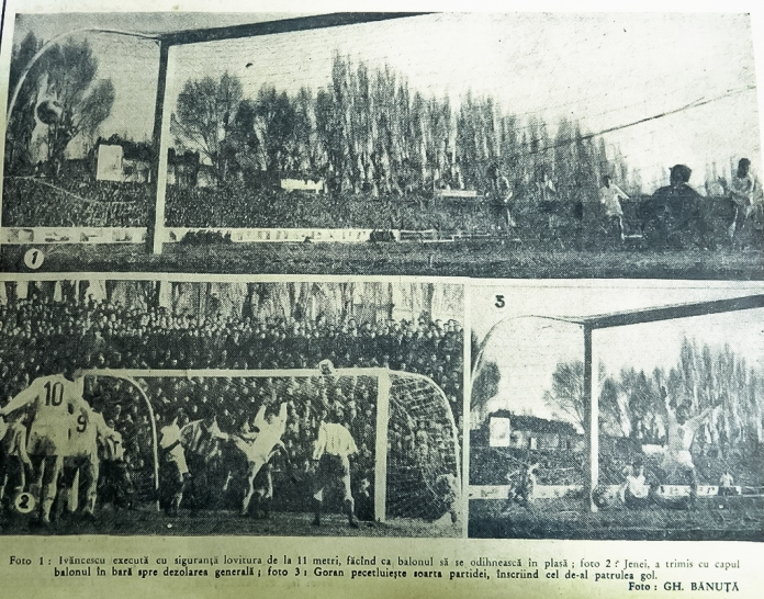 Stadionul Tractorul în februarie 1966
