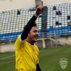 Alexandru Vagner, celebrând golul de 1-0