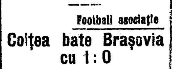 Colţea 1-0 Braşovia, 22 mai 1924