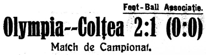 Olympia 2-1 Colţea, 30 martie 1924