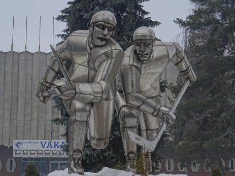 Statuie cu hochieşti în Miercurea Ciuc