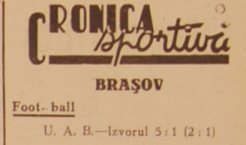 UAB - Isvorul Satulung, Cupa României 1942
