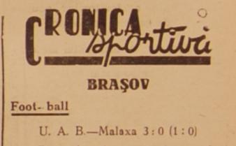 UAB - Malaxa Tohanu Vechi, Cupa României 1942