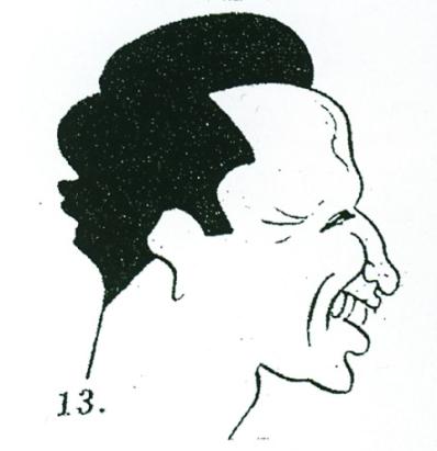 Săceleanul Gheorghe Ţuţuianu, văzut de caricaturistul Gion, în nr-ul 63/64 din mai 1944 al revistei Aripi Româneşti