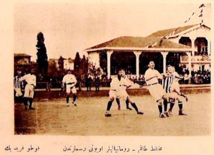 Fază din meciul Imperiul Otoman - România, 17 aprilie 1914
