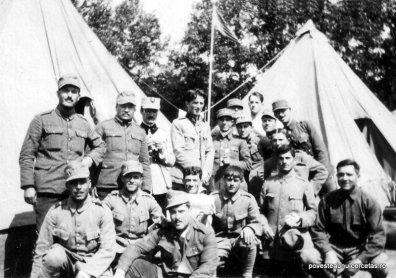 Soldaţi români în cantonamentul Jocurilor Inter-Aliate, Paris, 1919