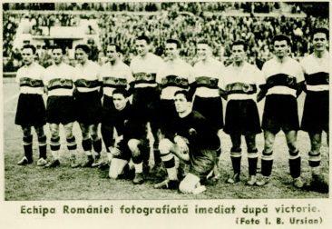 Echipa României după meciul câştiga cu Iugoslavia, 1939