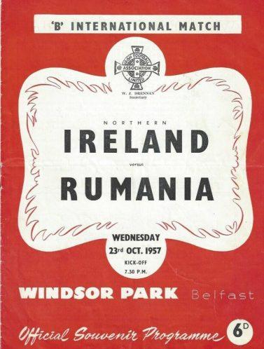 Irland de Nord - România, 26 octombrie 1957