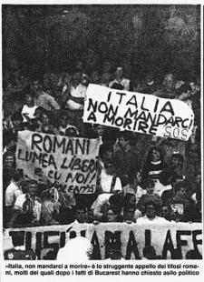Suporteri români la CM Italia 1990