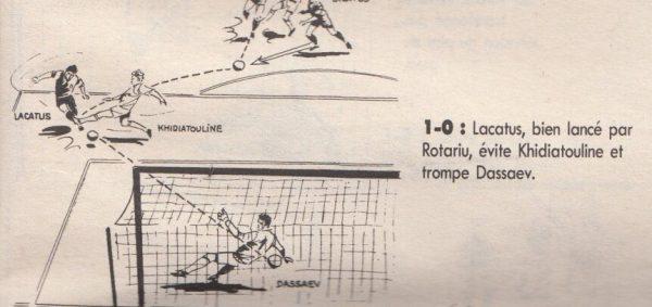 Desen cu golul de 1-0 din România - URSS